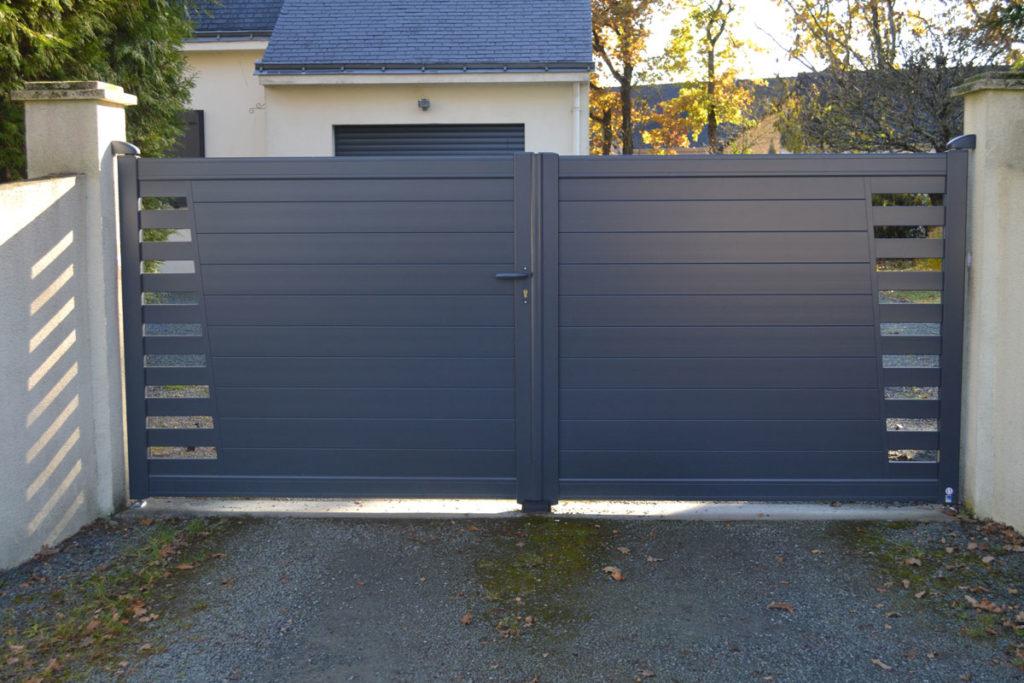 Portail - Réalisations aménagements extérieurs - Loire Menuiseries Services